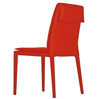 Daisy Side Chair (Set of 2) Upholstery: Red