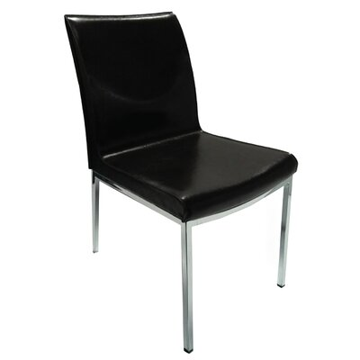 Opel Side Chair (Set of 2) Upholstery: Black