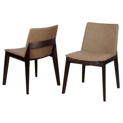 Baha Side Chair (Set of 2) Upholstery: Green