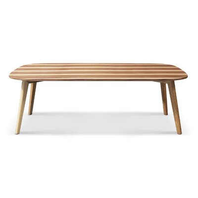 Boss Coffee Table Color: Light Walnut, Size: 16 x 47 x 20