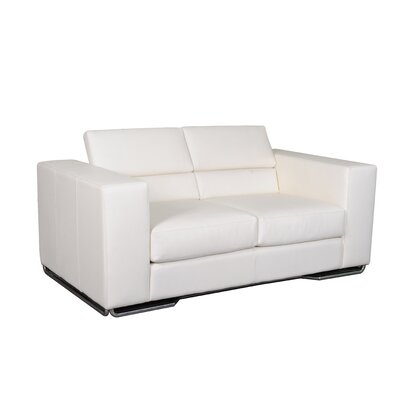 Caslon Leather Sofa Upholstery: Cream