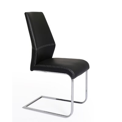 Lotto Side Chair (Set of 2) Upholstery: Black