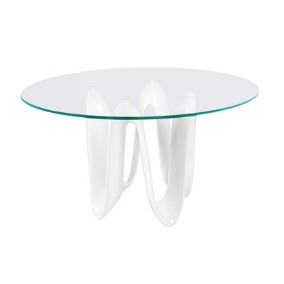 Sapphire Dining Table Base Finish: White