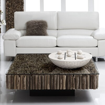Safari Coffee Table Size: 16 H x 43 W x 43 D