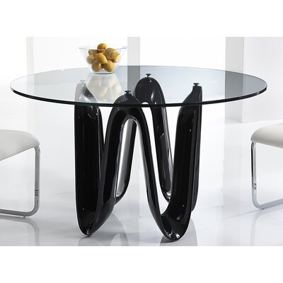 Sapphire Dining Table Base Finish: Black