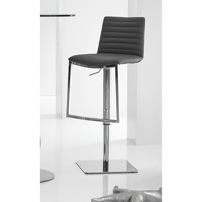 London Adjustable Height Bar Stool Upholstery: Black London Barstool BLACK