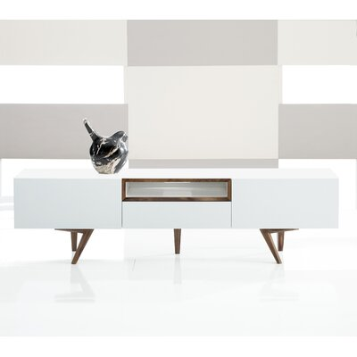 Branden 63 TV Stand Color: White