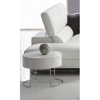 Mint End Table Color: White
