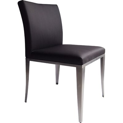 August Side Chair (Set of 2) Upholstery: Black
