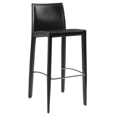 Manhattan 29 Bar Stool Upholstery: Black