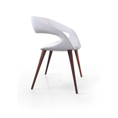 Shape Dining Chair Arm Chair Finish: White