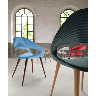 Shape Dining Chair Arm Chair Color: Blue