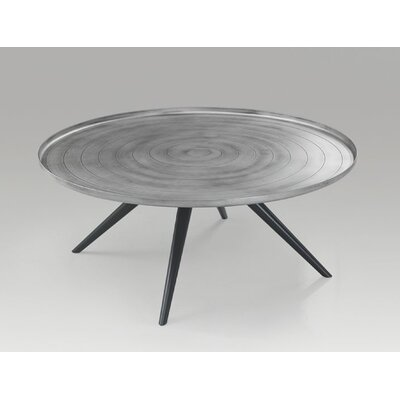Outline Coffee Table Size: 15 H x 37 W x 37 D, Color: Silver