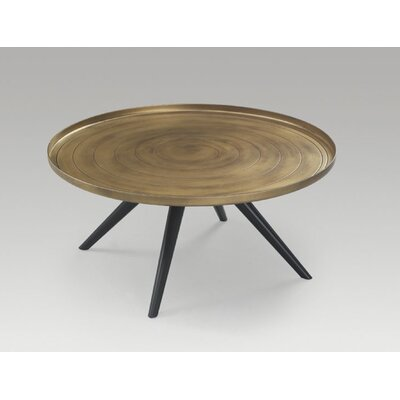 Outline Coffee Table Size: 15 H x 37 W x 37 D, Color: Gold