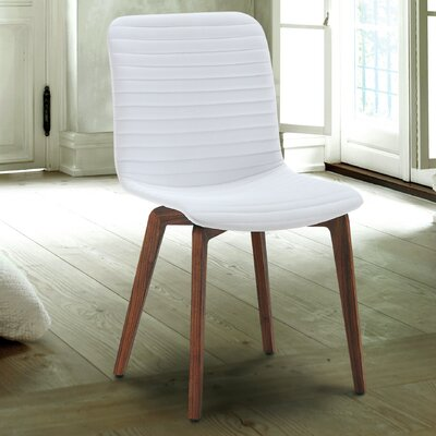 Vela Upholstered Dining Chair (Set of 2) Upholstery: White