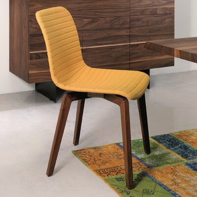 Vela Upholstered Dining Chair (Set of 2) Upholstery: Yellow