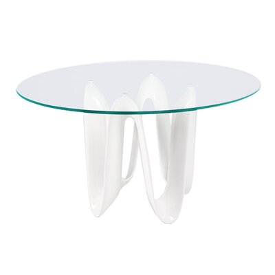 Sapphire Dining Table Base Color: White