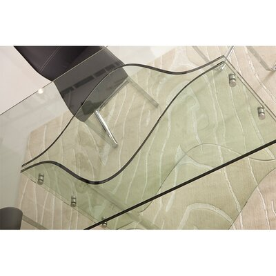 Francisca Bent Glass Rectangular Dining Table