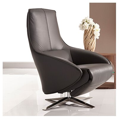 Cannella Recliner Leather color: White