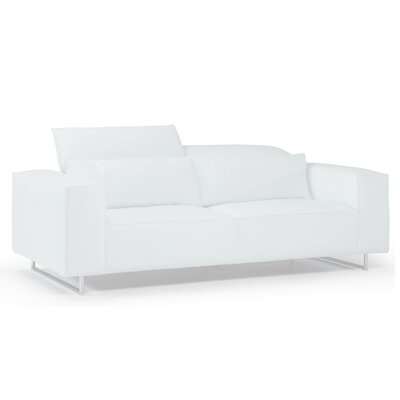 Giadia Leather Loveseat Color: White