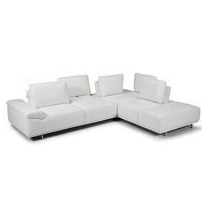 Roxanne Leather Sectional Orientation: Right Hand Facing