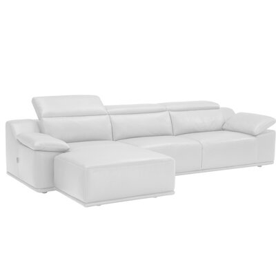 Isabella Leather Reversible Sectional Orientation: Right Hand Facing