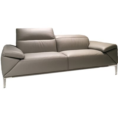 Greta Leather Sofa Upholstery: Genuine Leather Dark Gray
