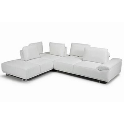 Roxanne Sectional Color: White, Orientation: Right Hand Facing
