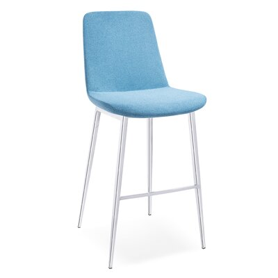 Dunlevy 38 Barstool (Set of 2) Upholstery: Blue