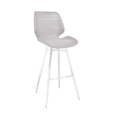 Tayla Gas Lift 44 Barstool Upholstery: Light Gray