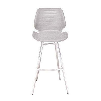 Tayla 45 Barstool Upholstery: Light Gray