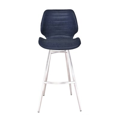 Tayla 45 Barstool Upholstery: Dark Blue