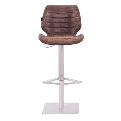 Tayla Gas Lift 44 Barstool Upholstery: Vintage Brown