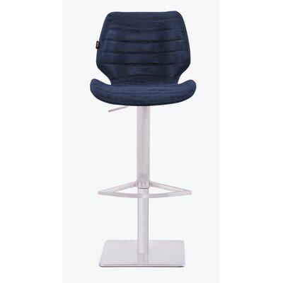 Tayla Gas Lift 44 Barstool Upholstery: Dark Blue