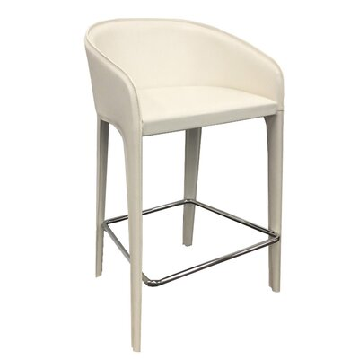 Campos 38 Barstool Upholstery: White