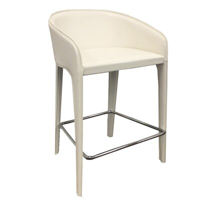 Campos 33 Barstool Upholstery: White