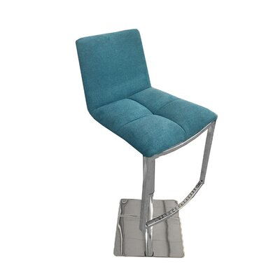 Jaycee 42 Swivel Barstool Upholstery: Blue