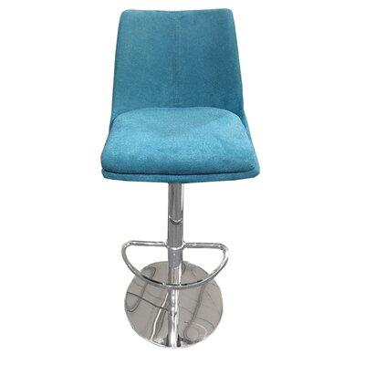 Elco 44 Swivel Barstool Upholstery: Blue