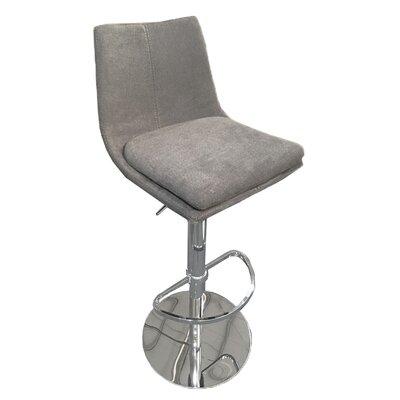 Elco 44 Swivel Barstool Upholstery: Gray