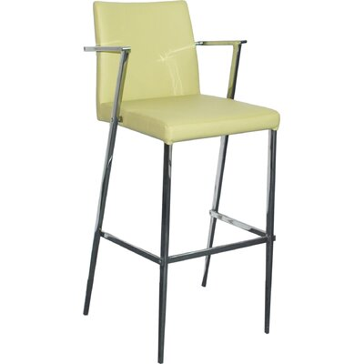 26 inch Bar Stool Upholstery: Black