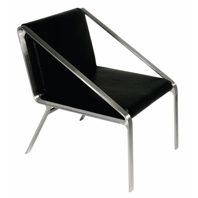 Owen Leather Armchair Upholstery: Black