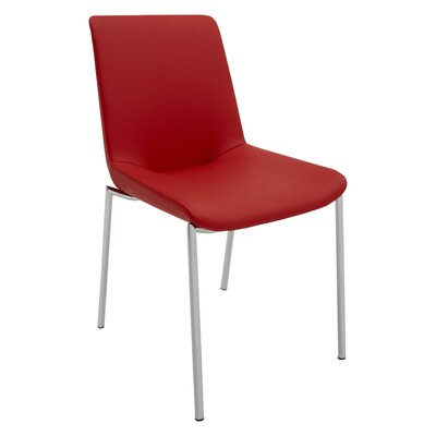 Aiden Side Chair (Set of 2) Upholstery: Red