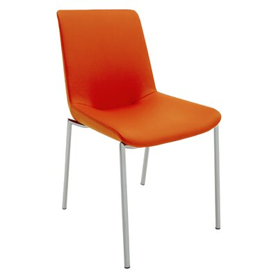 Aiden Side Chair (Set of 2) Upholstery: Orange