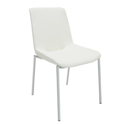 Aiden Side Chair (Set of 2) Upholstery: White