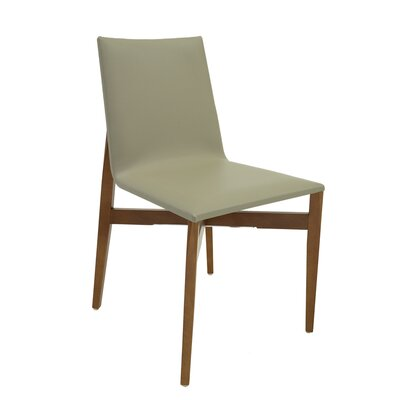 Brio Side Chair (Set of 2) Upholstery: Green