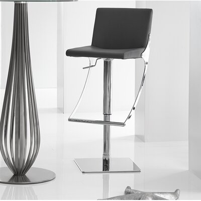 Sonic Adjustable Height Swivel Bar Stool Upholstery: Grey