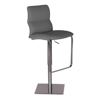 Intel Adjustable Height Swivel Bar Stool Upholstery: Grey