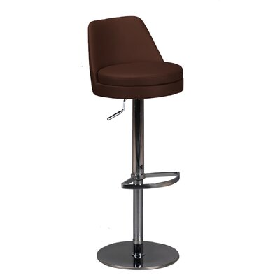 Dante Adjustable Height Swivel Bar Stool Upholstery: Brown