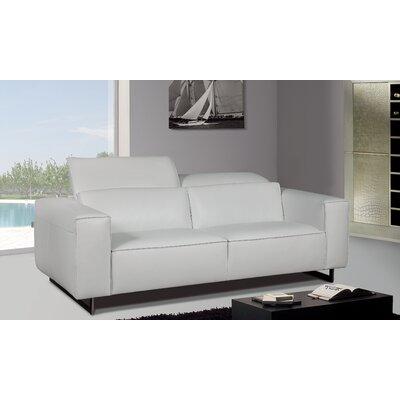 Greta Leather Sofa Upholstery: Leather White