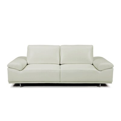 Roxanne Leather Reclining Sofa Upholstery: Ligth Gray